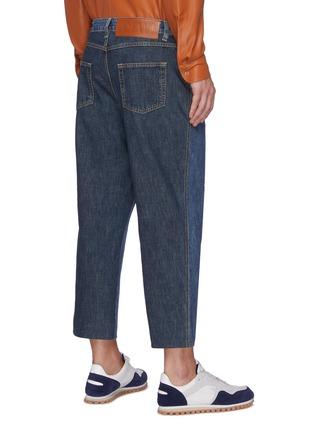 Back View - Click To Enlarge - LOEWE - 'Fisherman' bicolore jeans