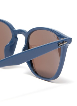 Detail View - Click To Enlarge - RAY-BAN - 'RB4258' acetate frame angular sunglasses