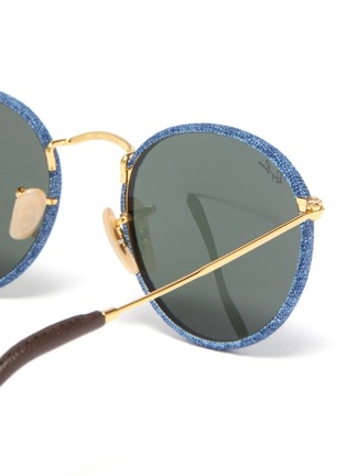 Detail View - Click To Enlarge - RAY-BAN - Denim frame metal temple round sunglasses