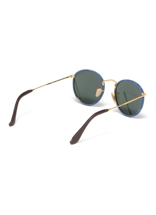 Figure View - Click To Enlarge - RAY-BAN - Denim frame metal temple round sunglasses