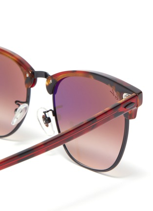 Detail View - Click To Enlarge - RAY-BAN - Clubmaster' acetate frame square sunglasses