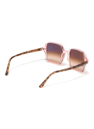 Figure View - Click To Enlarge - RAY-BAN - Acetate transparent frame square sunglasses