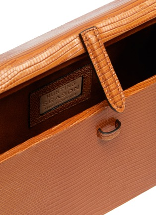 Detail View - Click To Enlarge - HUNTING SEASON - 'The Square Trunk' in lizardskin leather with tassels