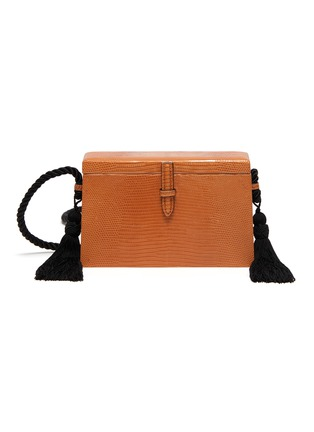Main View - Click To Enlarge - HUNTING SEASON - 'The Square Trunk' in lizardskin leather with tassels