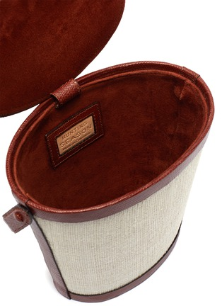 Detail View - Click To Enlarge - HUNTING SEASON - Classic leather canvas bucket bag