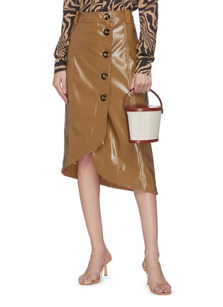 Figure View - Click To Enlarge - HUNTING SEASON - Classic leather canvas bucket bag