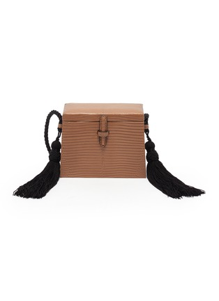 Main View - Click To Enlarge - HUNTING SEASON - 'The Mini Square Trunk' in lizardskin leather with tassels
