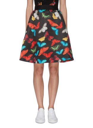 Main View - Click To Enlarge - ALICE + OLIVIA - 'Earla' butterfly print flared skirt