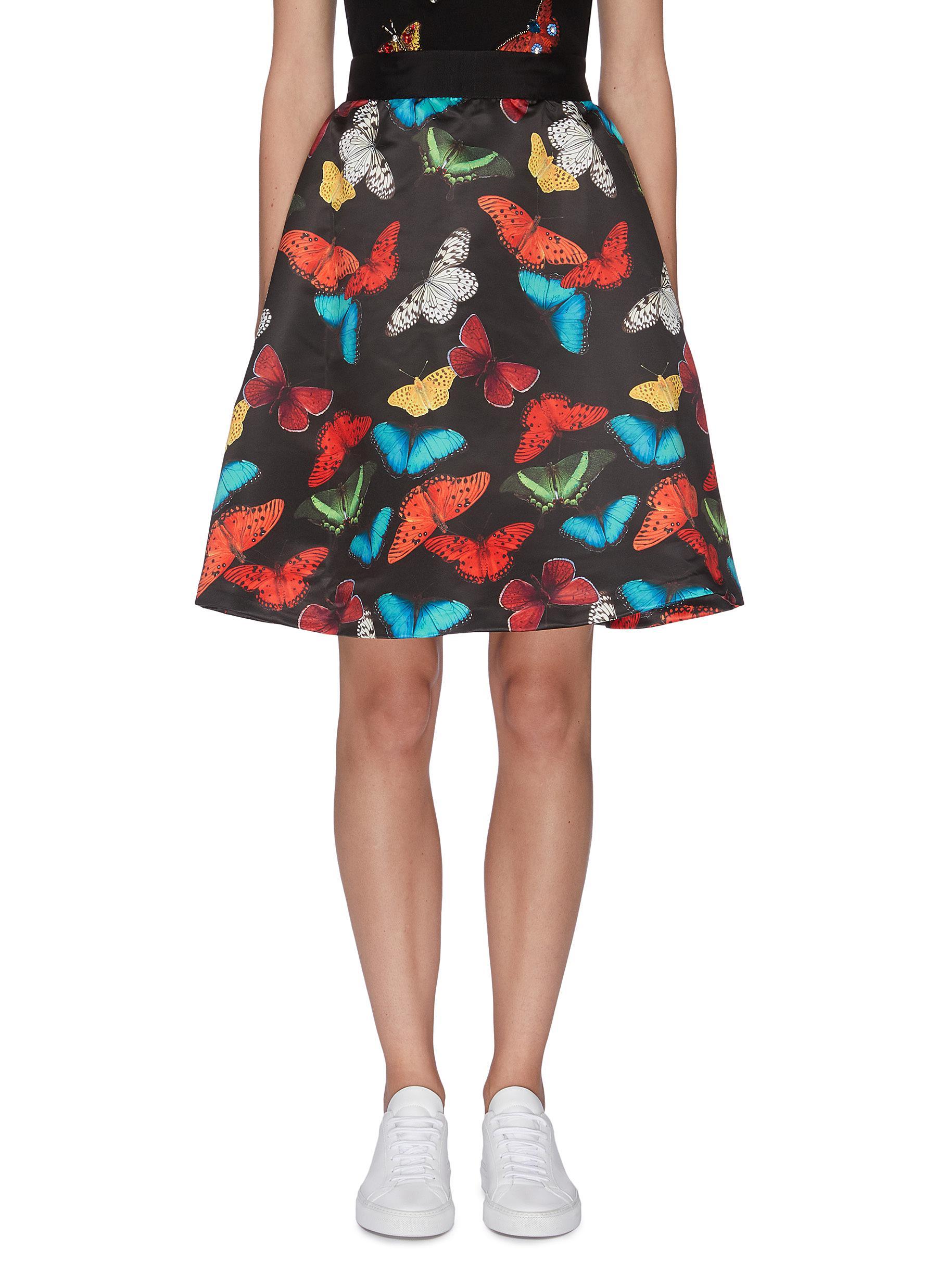 Buy Alice + Olivia Skirts 'Earla' butterfly print flared skirt