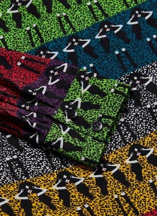 - ALICE + OLIVIA - 'Willa' mixed print colourblock shirt