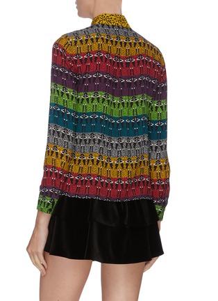 Back View - Click To Enlarge - ALICE + OLIVIA - 'Willa' mixed print colourblock shirt