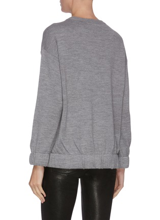 Back View - Click To Enlarge - ALICE + OLIVIA - Colourblock graphic print sweater