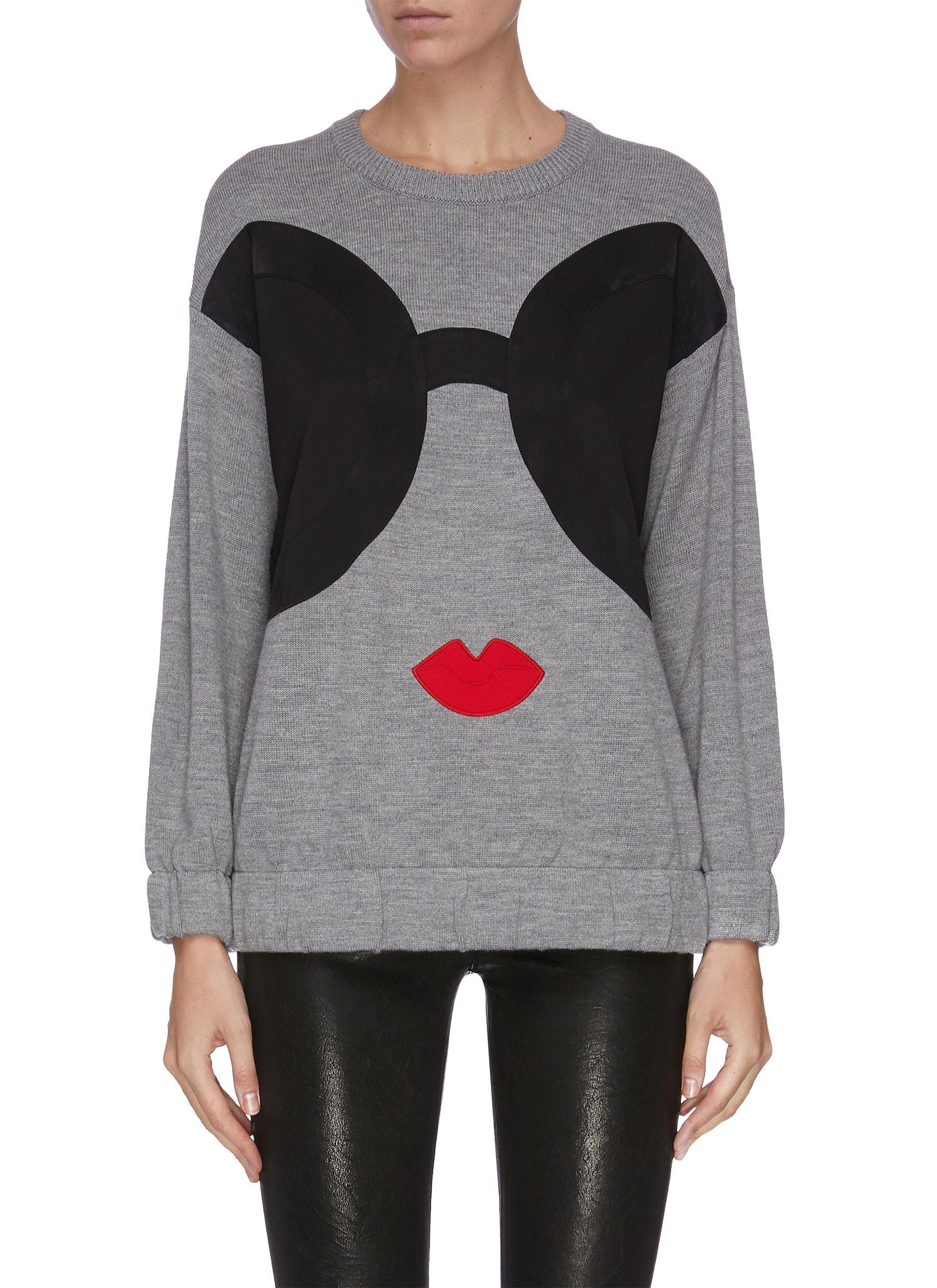 shop Alice + Olivia Colourblock graphic print sweater online