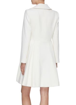 Back View - Click To Enlarge - ALICE + OLIVIA - 'Leila' double breast pleated flare hem coat