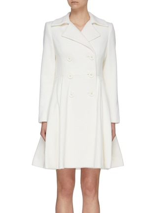 Main View - Click To Enlarge - ALICE + OLIVIA - 'Leila' double breast pleated flare hem coat