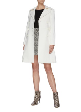 Figure View - Click To Enlarge - ALICE + OLIVIA - 'Leila' double breast pleated flare hem coat