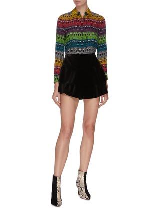 Figure View - Click To Enlarge - ALICE + OLIVIA - Ruffle layered mini skirt