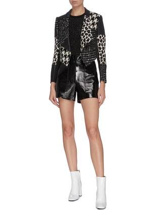 Figure View - Click To Enlarge - ALICE + OLIVIA - Ciara' heat-set crystal wool pullover