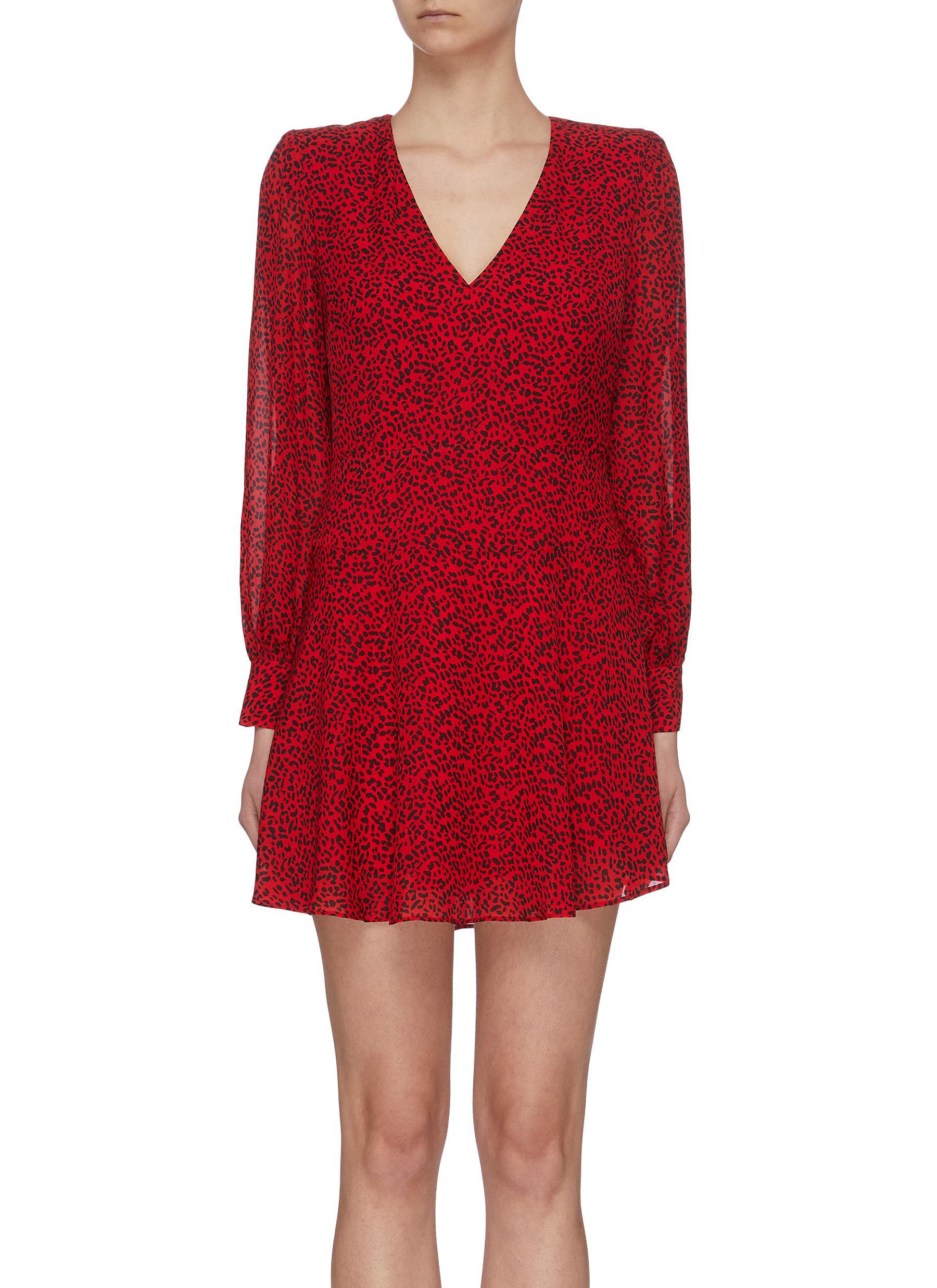 Buy Alice + Olivia Dresses 'Poly' leopard print sheer dress