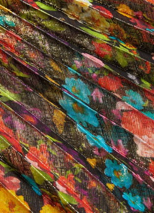 - ALICE + OLIVIA - 'Katz' pleated floral-print metallic maxi skirt