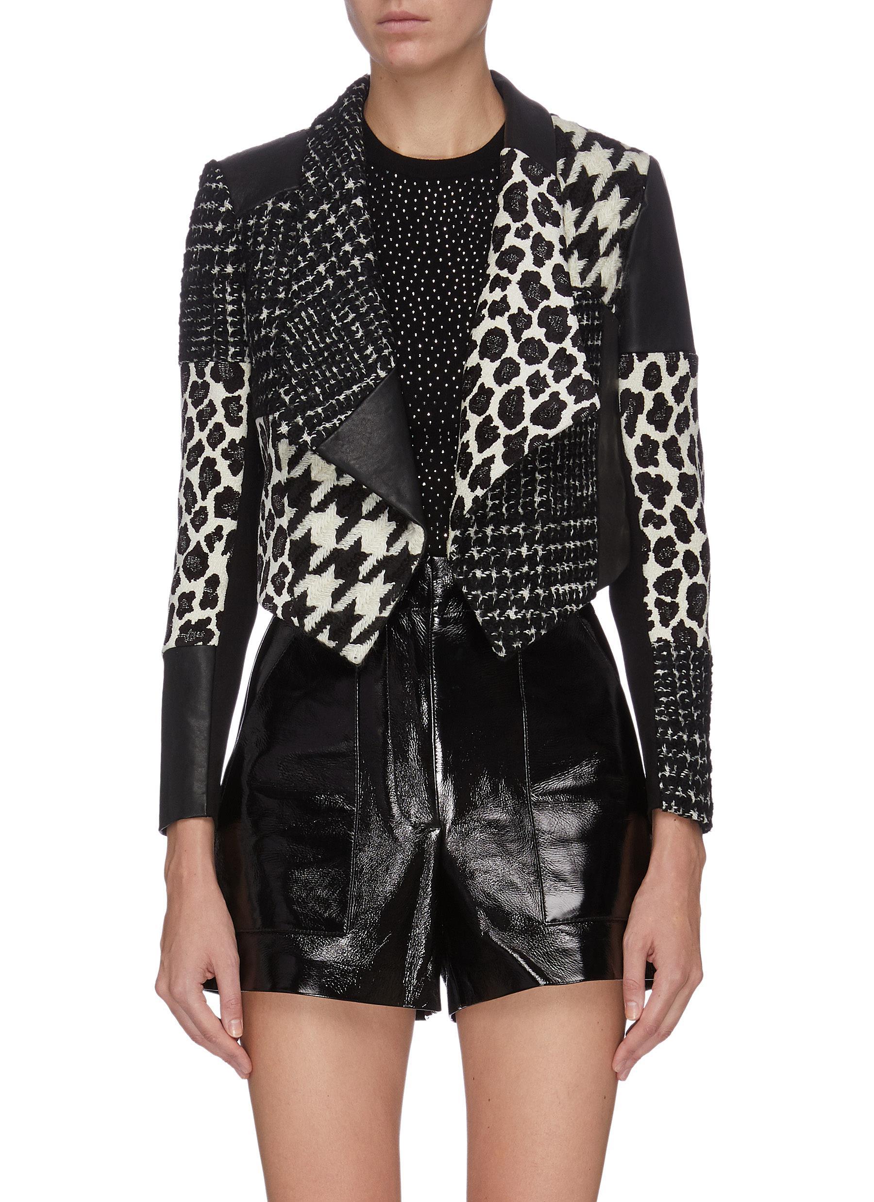 shop Alice + Olivia 'Harvey' patchwork splicing jacket online