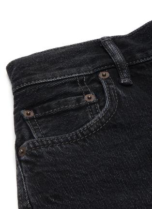 - ACNE STUDIOS - Vintage black wash raw hem mini denim shorts