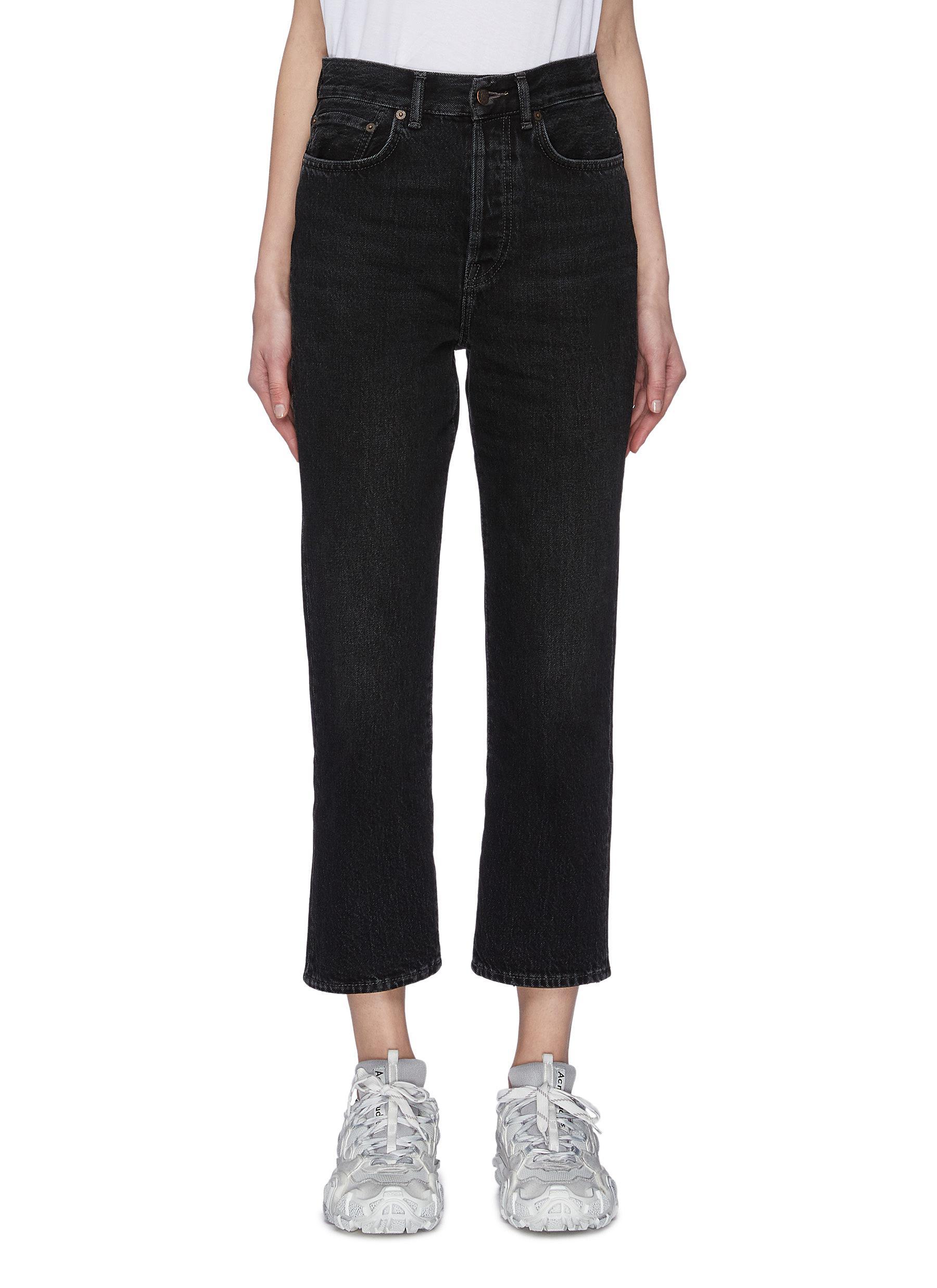 Buy Acne Studios Jeans High rise straight leg jeans