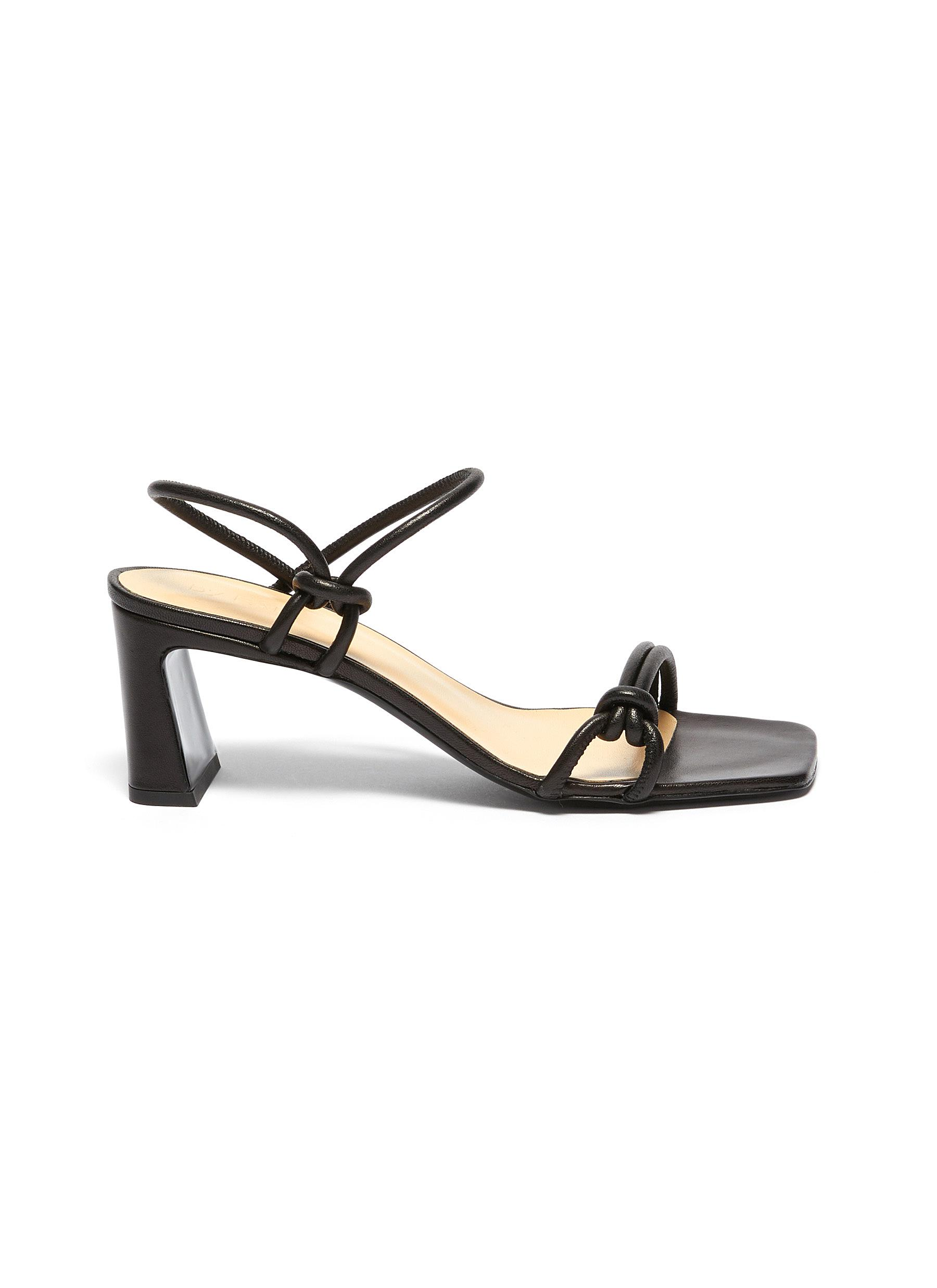 By Far Sandals 'Charlie' single band knot leather sandals