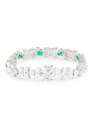 Detail View - Click To Enlarge - CZ BY KENNETH JAY LANE - Tennis spikes Zirconia bracelet