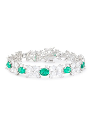 Main View - Click To Enlarge - CZ BY KENNETH JAY LANE - Tennis spikes Zirconia bracelet