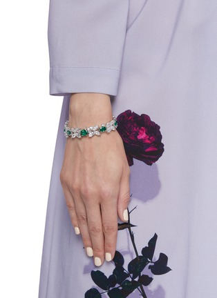 Figure View - Click To Enlarge - CZ BY KENNETH JAY LANE - Tennis spikes Zirconia bracelet