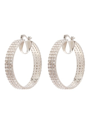 Main View - Click To Enlarge - CZ BY KENNETH JAY LANE - 'Triple Round' Zirconia hoop earrings