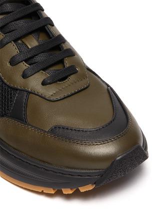 Detail View - Click To Enlarge - BOTTEGA VENETA - 'Speedster' leather mesh patchwork sneakers