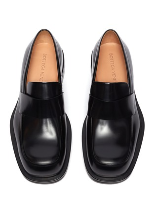Detail View - Click To Enlarge - BOTTEGA VENETA - Round toe oversized penny loafers