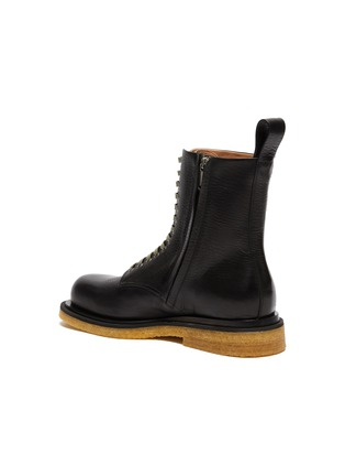 - BOTTEGA VENETA - Lace up leather combat boots