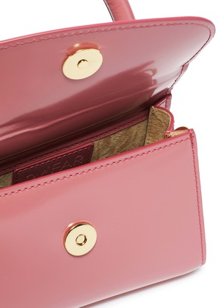 Detail View - Click To Enlarge - BY FAR - Mini patent leather top handle tote