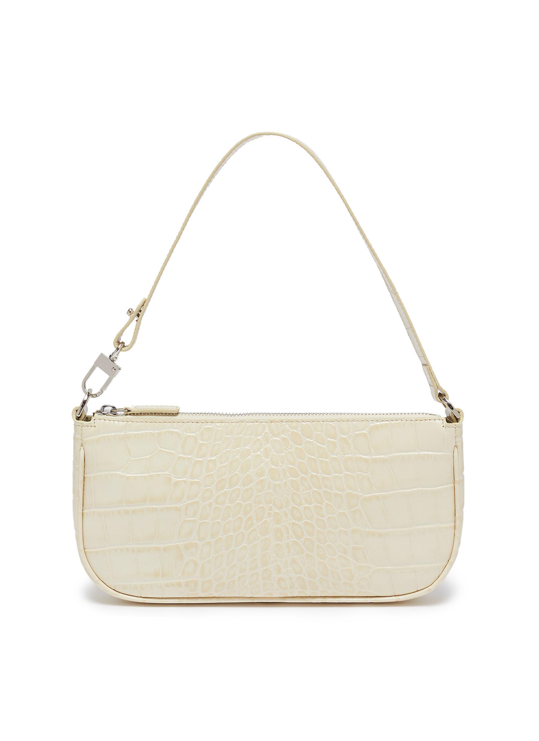 By Far Handbags 'Rachel' croc-embossed leather small handle bag