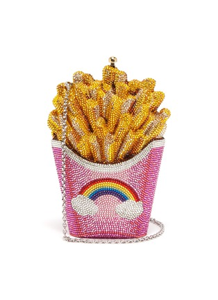 Main View - Click To Enlarge - JUDITH LEIBER - 'French Fries' crystal pavé minaudière