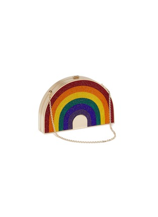 Detail View - Click To Enlarge - JUDITH LEIBER - Rainbow box clutch