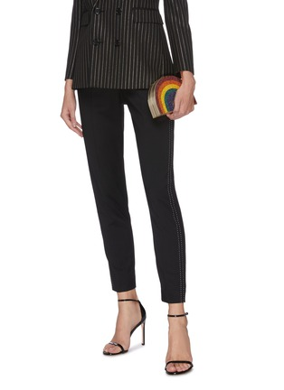 Front View - Click To Enlarge - JUDITH LEIBER - Rainbow box clutch