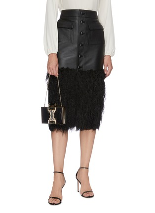 Front View - Click To Enlarge - JUDITH LEIBER - 'Jazz Age' crystal embellished chain clutch