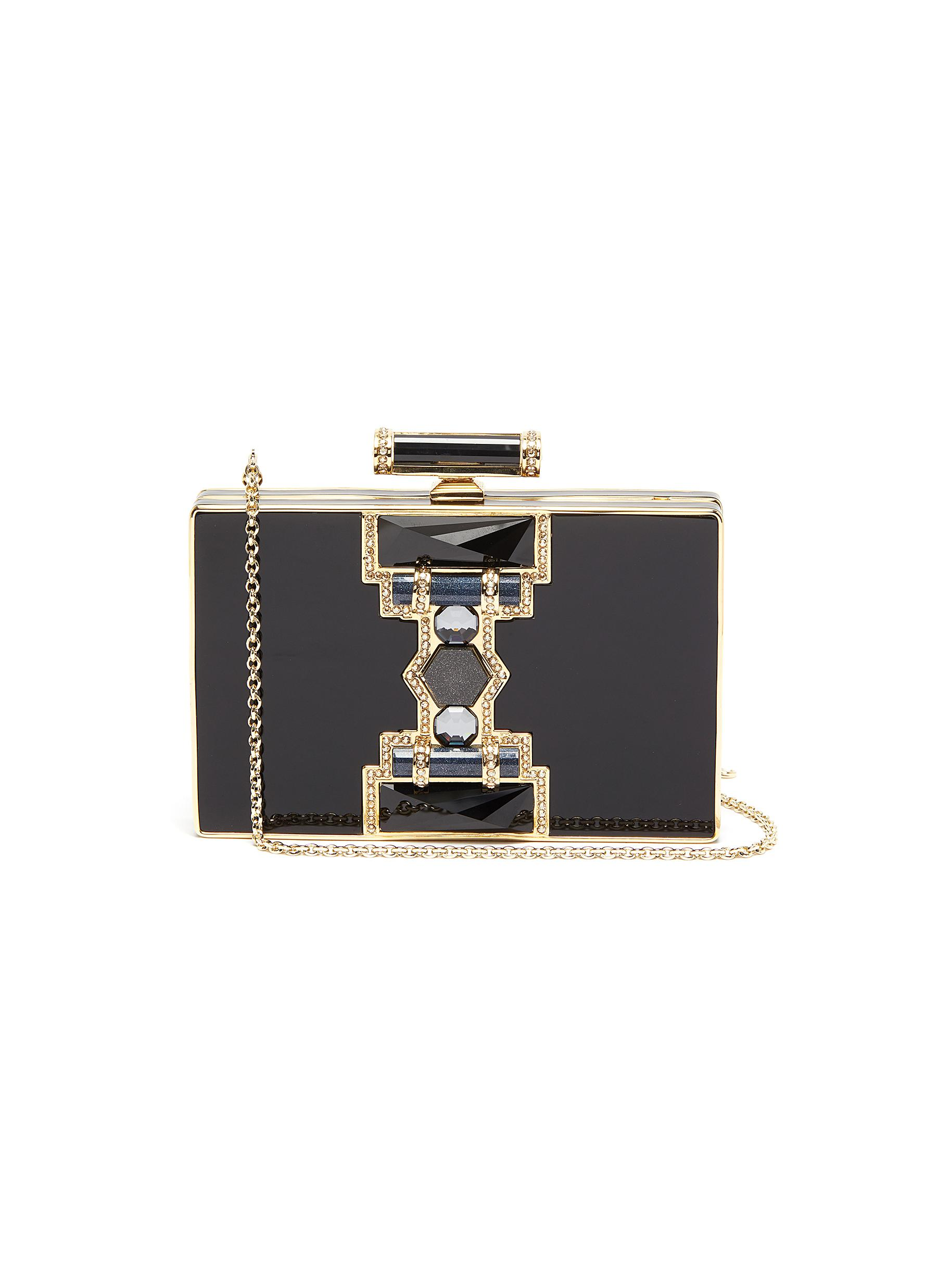 'Jazz Age' crystal embellished chain clutch