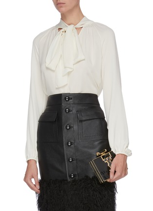 Figure View - Click To Enlarge - JUDITH LEIBER - 'Jazz Age' crystal embellished chain clutch