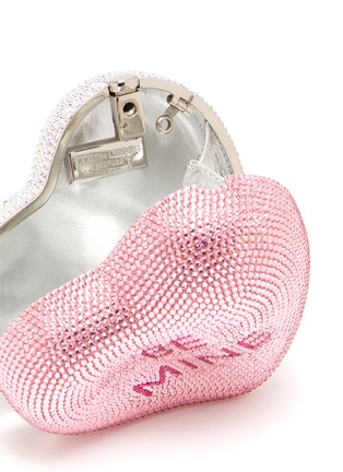 Detail View - Click To Enlarge - JUDITH LEIBER - Be Mine XOXO heart-shape crystal pavé minaudière