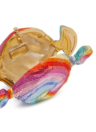 Detail View - Click To Enlarge - JUDITH LEIBER - 'Candy Swirl' crystal embellished clutch