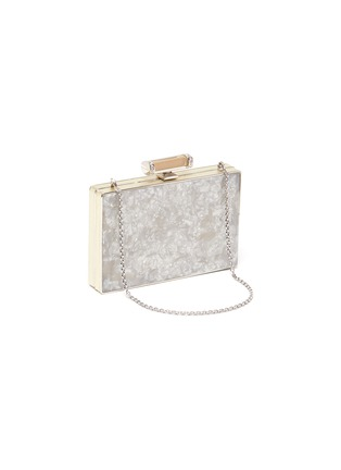 Detail View - Click To Enlarge - JUDITH LEIBER - ''Jazz Age' marble print crystal embellished box clutch