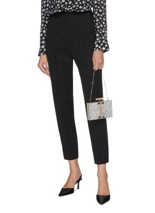 Front View - Click To Enlarge - JUDITH LEIBER - ''Jazz Age' marble print crystal embellished box clutch