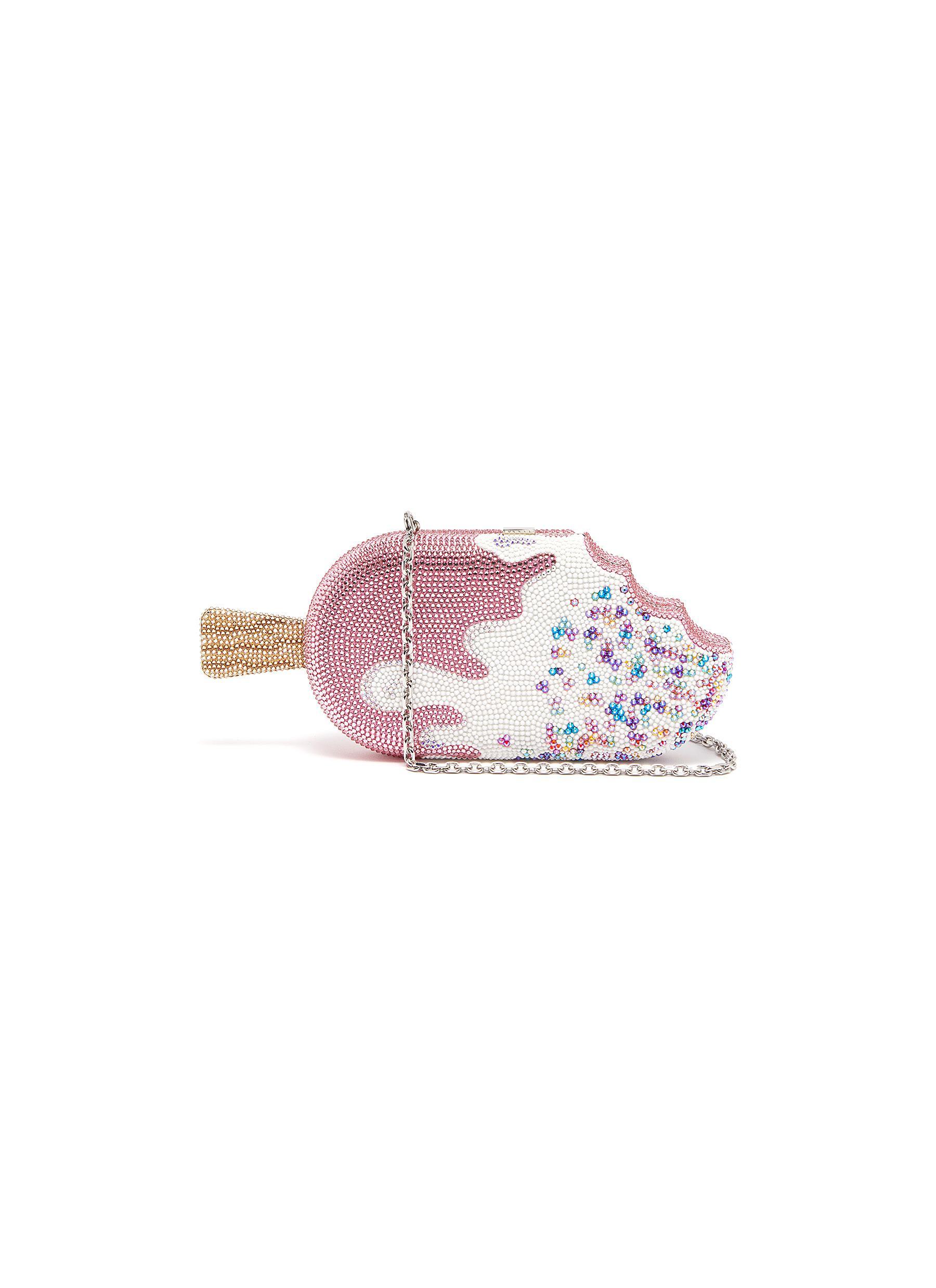 Judith Leiber Bags Strawberry drip popsicle crystal pavé minaudière