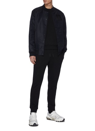 Figure View - Click To Enlarge - MCQ ALEXANDER MCQUEEN - Swallow embroidered sweatpants