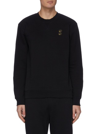 Main View - Click To Enlarge - MCQ ALEXANDER MCQUEEN - Swallow embroidered sweater